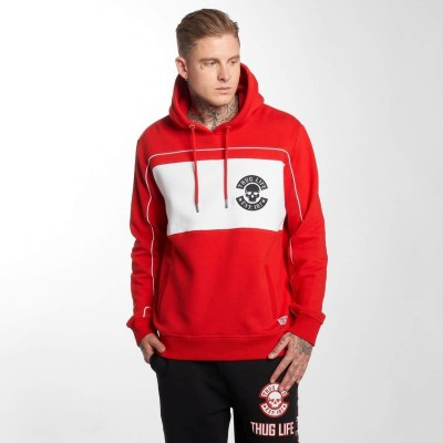 Thug Life Hoodie Walk in red