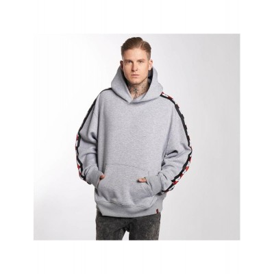 Maskulin Hoodie Stripe in grey