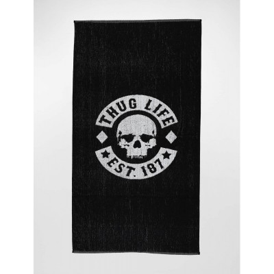 Thug Life Towel Logo in black