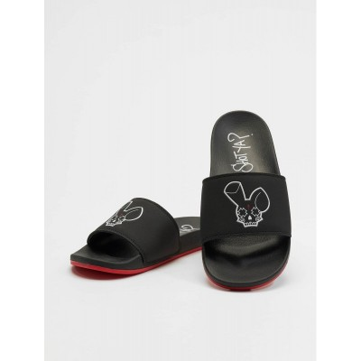 Who Shot Ya? Sandals Logo...